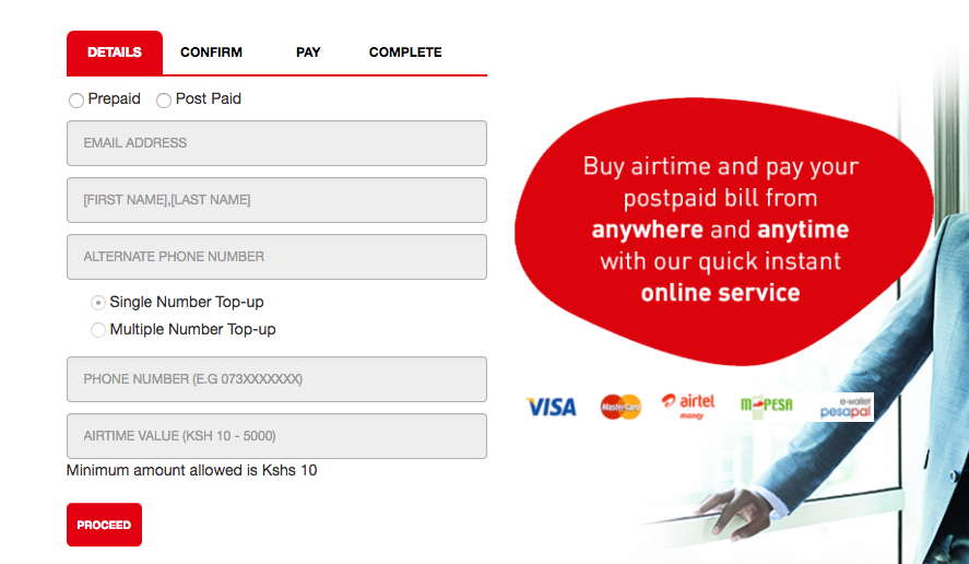 Airtel Airtime Top up with PesaPal | Pesapal