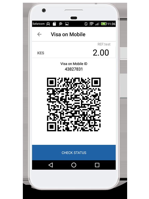 mVisa QR Code on Pesapal Sabi App
